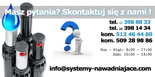 Systemy nawadniające Warszawa, kontakt nawadnianie